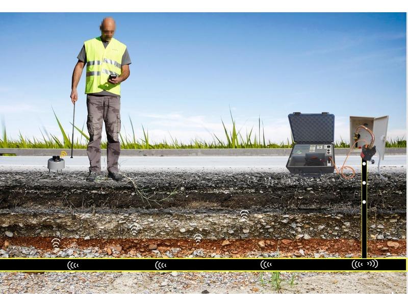 Détection des canalisations PE de gaz enterrées